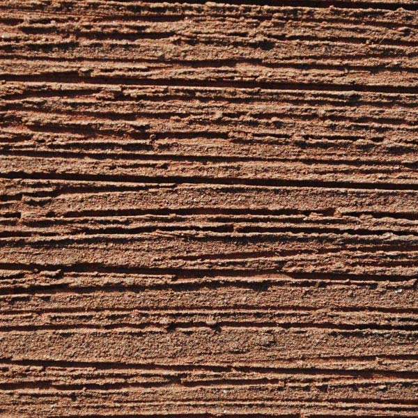 Horizontal wirescored clay roof tiles